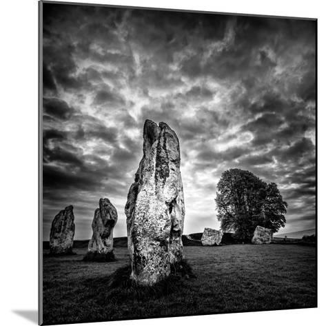 Standing Stones in Countryside-Rory Garforth-Mounted Photographic Print