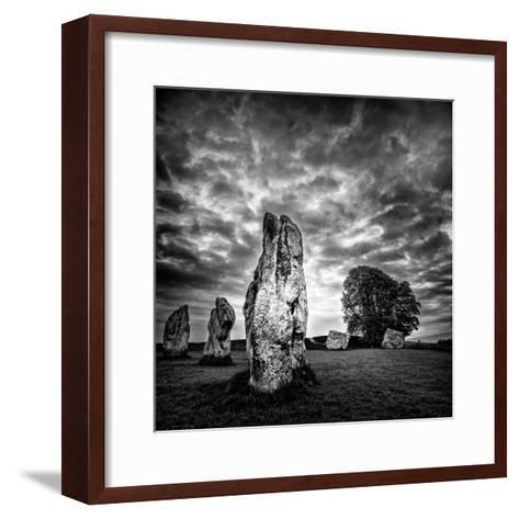Standing Stones in Countryside-Rory Garforth-Framed Art Print