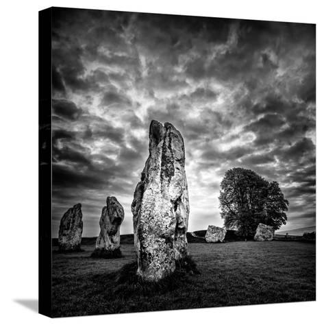 Standing Stones in Countryside-Rory Garforth-Stretched Canvas Print