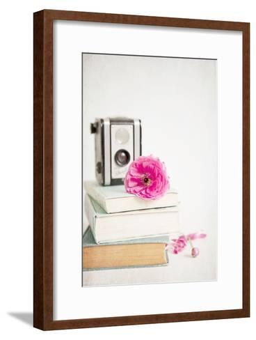 Pink Flower with Books and Camera-Susannah Tucker-Framed Art Print