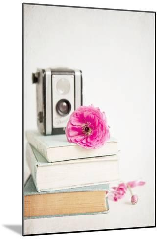 Pink Flower with Books and Camera-Susannah Tucker-Mounted Photographic Print