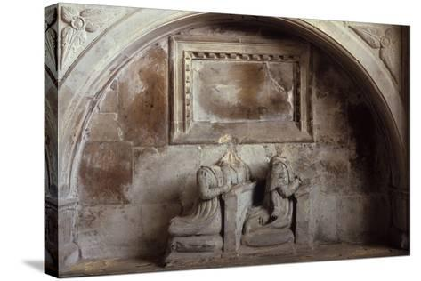 Church Tomb-Den Reader-Stretched Canvas Print