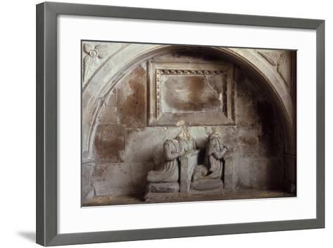 Church Tomb-Den Reader-Framed Art Print