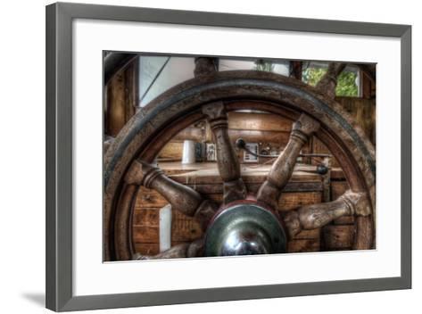 Old Barge-Nathan Wright-Framed Art Print