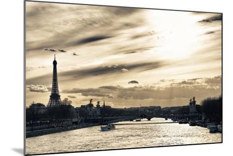 Sunset on the Alexander III Bridge - Eiffel Tower - Paris-Philippe Hugonnard-Mounted Photographic Print