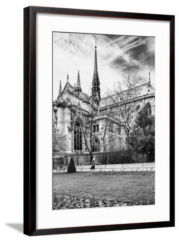 A nun - Notre Dame Cathedral - Paris - France-Philippe Hugonnard-Framed Art Print