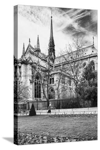 A nun - Notre Dame Cathedral - Paris - France-Philippe Hugonnard-Stretched Canvas Print
