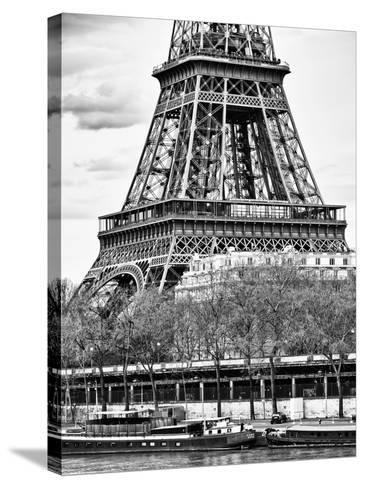 Detail of Eiffel Tower - Paris - France-Philippe Hugonnard-Stretched Canvas Print
