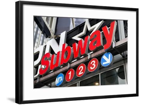 Subway Stations - Manhattan - New York City - United States-Philippe Hugonnard-Framed Art Print