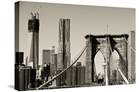 Landscapes - Brooklyn Bridge - New York - United States-Philippe Hugonnard-Stretched Canvas Print