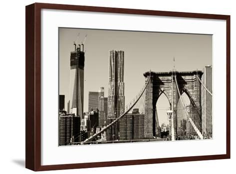 Landscapes - Brooklyn Bridge - New York - United States-Philippe Hugonnard-Framed Art Print