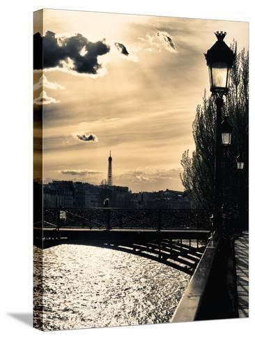 Sunset - Pont des Arts - Paris - France-Philippe Hugonnard-Stretched Canvas Print