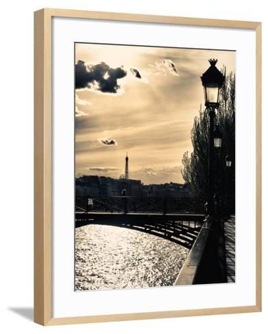 Sunset - Pont des Arts - Paris - France-Philippe Hugonnard-Framed Art Print