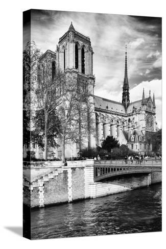 Notre Dame Cathedral - Paris - France-Philippe Hugonnard-Stretched Canvas Print