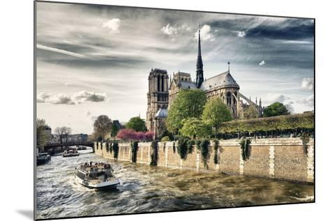 Notre Dame Cathedral - the banks of the Seine in Paris - France-Philippe Hugonnard-Mounted Photographic Print