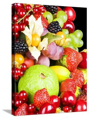 Close up of Fresh Fruits - Fruit assortments - Fruits and Vegetables-Philippe Hugonnard-Stretched Canvas Print