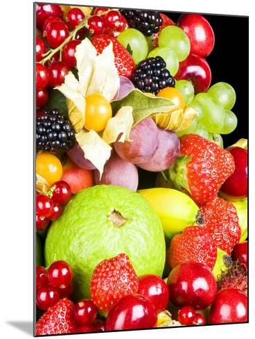 Close up of Fresh Fruits - Fruit assortments - Fruits and Vegetables-Philippe Hugonnard-Mounted Photographic Print