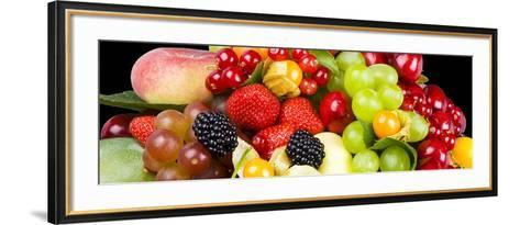 Close up of Fresh Fruits - Fruit assortments - Fruits and Vegetables-Philippe Hugonnard-Framed Art Print