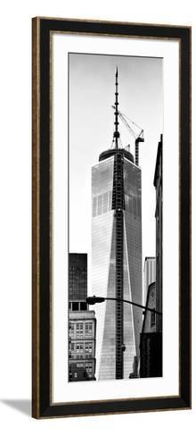 One World Trade Center (1WTC), Manhattan, New York, Vertical Panoramic View-Philippe Hugonnard-Framed Art Print