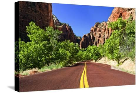 Scenic Drive - Zion National Park - Utah - United States-Philippe Hugonnard-Stretched Canvas Print