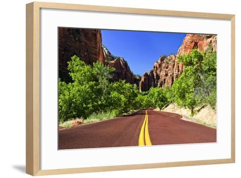 Scenic Drive - Zion National Park - Utah - United States-Philippe Hugonnard-Framed Art Print