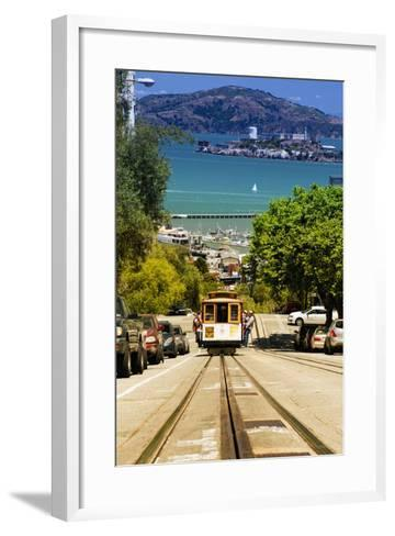 Cable Cars - Streets - Downtown - San Francisco - Californie - United States-Philippe Hugonnard-Framed Art Print