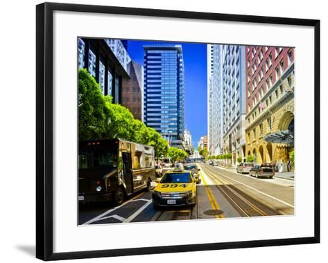 Taxi Cabs - Downtown - San Francisco - Californie - United States-Philippe Hugonnard-Framed Art Print
