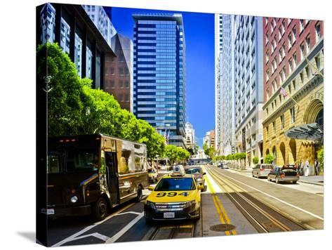 Taxi Cabs - Downtown - San Francisco - Californie - United States-Philippe Hugonnard-Stretched Canvas Print