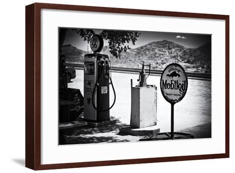 Route 66 - Gas Station - Arizona - United States-Philippe Hugonnard-Framed Art Print