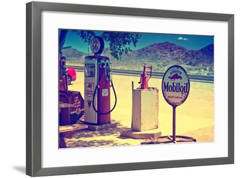 Route 66 - Gas Station - Arizona - United States-Philippe Hugonnard-Framed Art Print