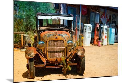 Cars - Ford - Route 66 - Gas Station - Arizona - United States-Philippe Hugonnard-Mounted Photographic Print