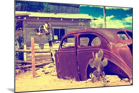 Cars - Route 66 - Gas Station - Arizona - United States-Philippe Hugonnard-Mounted Photographic Print