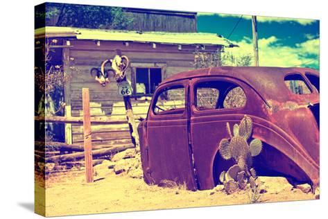 Cars - Route 66 - Gas Station - Arizona - United States-Philippe Hugonnard-Stretched Canvas Print
