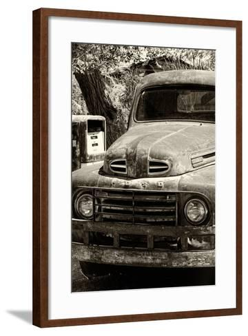Cars - Ford - Route 66 - Gas Station - Arizona - United States-Philippe Hugonnard-Framed Art Print