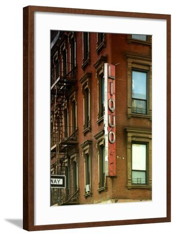 Advertising - Liquors - Harlem - Manhattan - New York - United States-Philippe Hugonnard-Framed Art Print