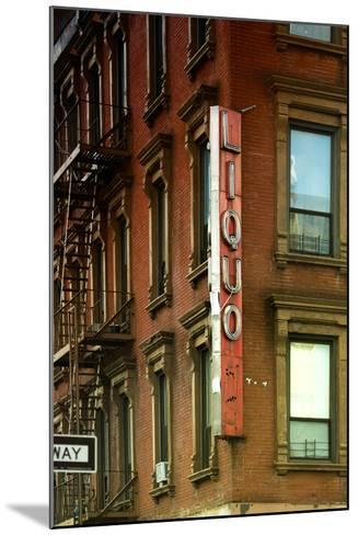 Advertising - Liquors - Harlem - Manhattan - New York - United States-Philippe Hugonnard-Mounted Photographic Print