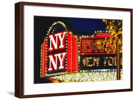 New York New York - Casino - Las Vegas - Nevada - United States-Philippe Hugonnard-Framed Art Print