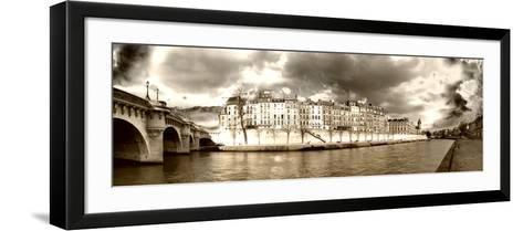 Panoramic Landscape - Ile Saint Louis - Paris - France-Philippe Hugonnard-Framed Art Print