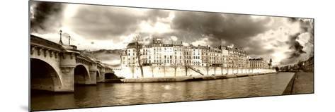 Panoramic Landscape - Ile Saint Louis - Paris - France-Philippe Hugonnard-Mounted Photographic Print