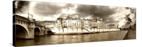 Panoramic Landscape - Ile Saint Louis - Paris - France-Philippe Hugonnard-Stretched Canvas Print