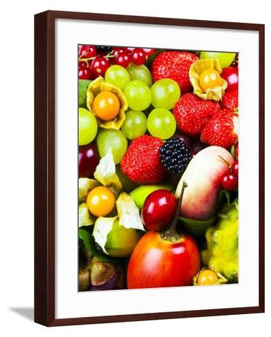 Close up of Fresh Fruits - Fruit assortments - Fruits and Vegetables-Philippe Hugonnard-Framed Art Print