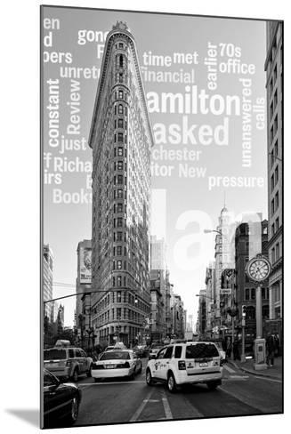 Flatiron Building - Taxi Cabs Yellow - Manhattan - New York City - United States-Philippe Hugonnard-Mounted Photographic Print