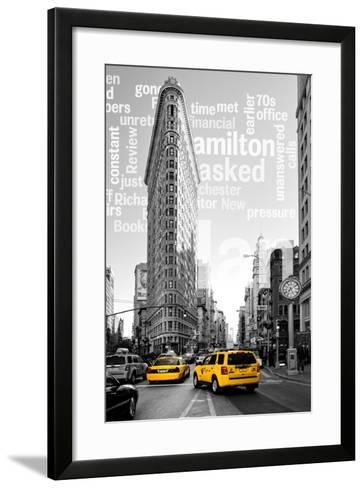 Flatiron Building - Taxi Cabs Yellow - Manhattan - New York City - United States-Philippe Hugonnard-Framed Art Print