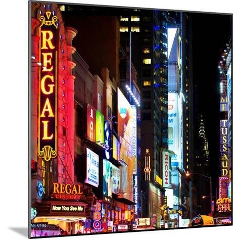 Square View, Urban Scene by Night at Times Square, Buildings by Night, Manhattan, New York, US, USA-Philippe Hugonnard-Mounted Photographic Print
