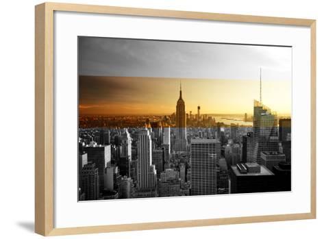 Empire State Building - Sunset - Manhattan - New York City - United States-Philippe Hugonnard-Framed Art Print