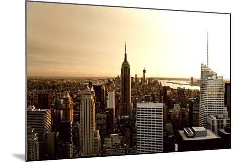 Empire State Building - Sunset - Manhattan - New York City - United States-Philippe Hugonnard-Mounted Photographic Print