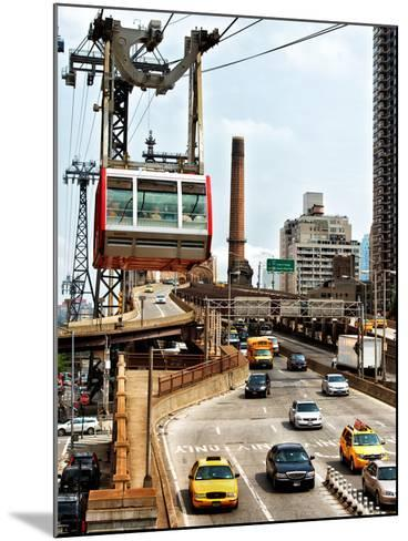 Roosevelt Island Tram and Ed Koch Queensboro Bridge (Queensbridge) Entry View, Manhattan, New York-Philippe Hugonnard-Mounted Photographic Print