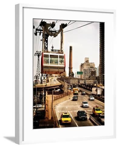 Roosevelt Island Tram and Ed Koch Queensboro Bridge (Queensbridge) Entry View, Manhattan, New York-Philippe Hugonnard-Framed Art Print