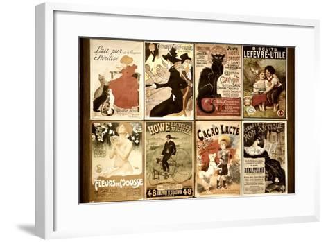 Old French Postcards - Gallery - Montmartre - Paris - France-Philippe Hugonnard-Framed Art Print