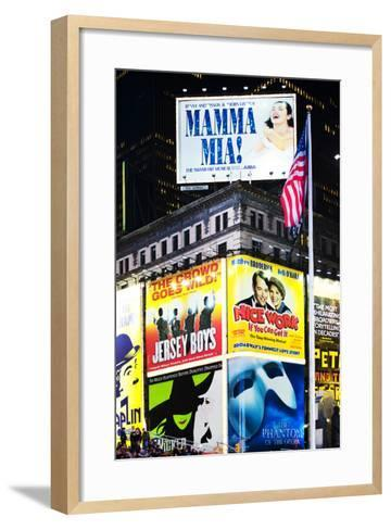 Advertising - Times square - Manhattan - New York City - United States-Philippe Hugonnard-Framed Art Print